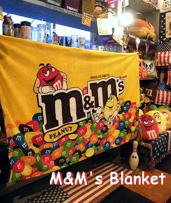 岩手 アメリカ雑貨屋 サンブリッヂ SUNBRIDGE M&M'sブランケット