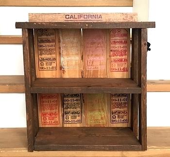 ステンシル木製ラック ステンシルシート アメリカ雑貨屋 SUNBRIDGE