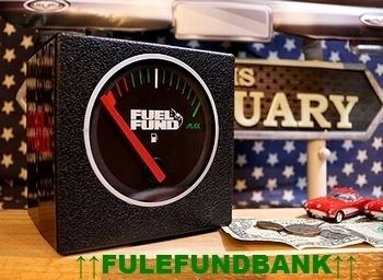 ガソリンメーター貯金箱 FUEL FUND マネーボックス 岩手盛岡 アメリカ雑貨屋 SUNBURIDGE