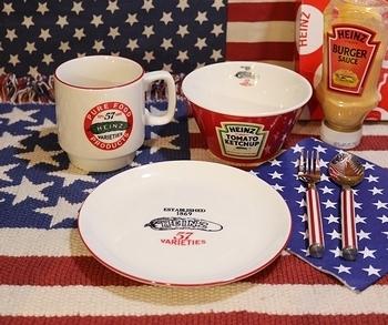 ハインツダイナーセット ハインツ食器セット アメリカ雑貨屋 サンブリッヂ 岩手雑貨屋