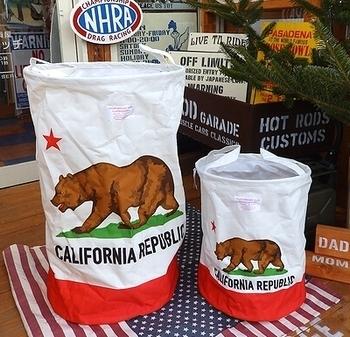 カリフォルニアランドリーバケツ フレキシブルバケツ CALIFORNIA  アメリカ雑貨屋 SUNBRIDGE 岩手雑貨屋