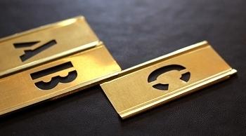 メタルステンシルプレート1/2インチ 真鍮ステンシルプレート<div><br></div>アメリカ雑貨屋 サンブリッヂ ステンシル通販