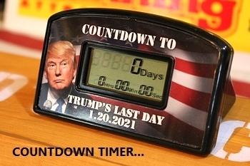 トランプ大統領グッズ カウントダウンタイマー 置き時計 アメリカ直輸入 アメリカ雑貨屋 SUNBRIDGE