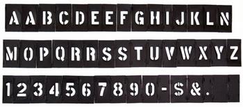 プラスチックステンシルプレート Hanson社製プラステンシル<div><br></div>アメリカ雑貨屋 サンブリッヂ ステンシル通販