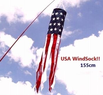 アメリカウインドソックフラッグ 星条旗 USAWindSockFlag アウトドアフラッグ アメリカ雑貨屋 SUNBRIGDE
