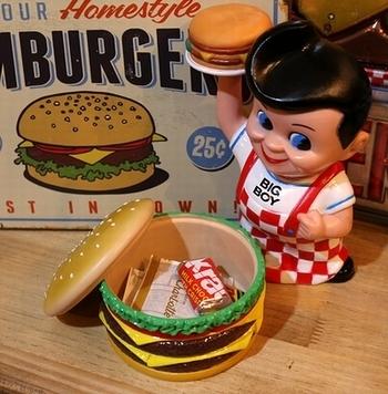 ハンバーガー雑貨 ハンバーガーブリキ看板 ハンバーガープチコンテナ ハンバーガーソープディスペンサー アメリカ雑貨屋 SUNBRIDGE