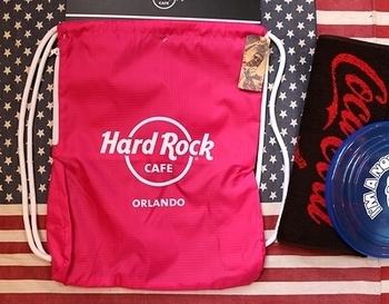 ハードロックカフェナップサック Hard Rock CAFE フロリダ買付 アメリカ雑貨屋 SUNBRIDGE