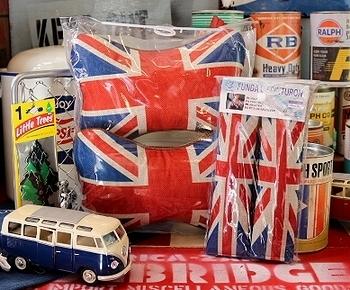 UKネッククッション シートベルトカバー イギリス国旗グッツ  アメリカ雑貨屋 SUNBRIDGE