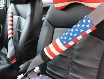 USAネッククッション シートベルトカバー 星条旗グッツ  アメリカ雑貨屋 SUNBRIDGE