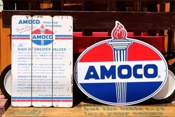アモコ看板 AMOCO アメリカ雑貨屋 <div><br></div>SUNBRIDGE