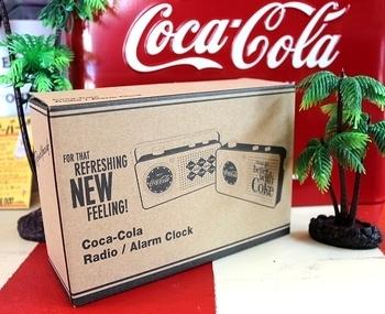 コカ・コーララジオ アラームクロック付きラジオ コークラジオ  COCACOLA アメリカ雑貨屋 SUNBRIDGE