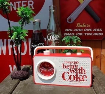 コカ・コーララジオ アラームクロック付き コークラジオ  COCACOLA アメリカ雑貨屋 SUNBRIDGE