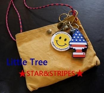 リトルツリーキーホルダー USA柄 Little Tree アメリカ雑貨屋 SUNBRIDGE