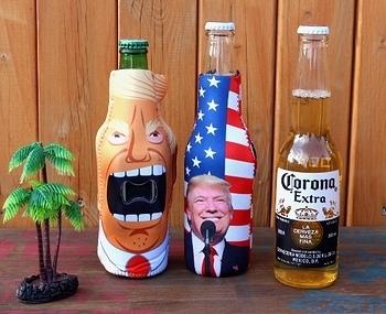 トランプ大統領ドリンクホルダー ビン用ドリンクホルダー  アメリカ大統領グッズ 岩手 アメリカ雑貨屋 SUNBRIDGE