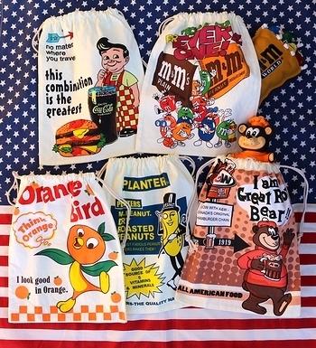 ビッグボーイ巾着 オレンジバード巾着 エム&エムズ巾着 ミスターピーナッツ巾着 A&W巾着 サンブリッヂ