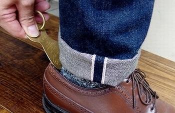 真鍮靴べらキーリング 靴べらキーホルダー 日本製靴べら カルチャーマート アメリカ雑貨屋 SUNBRIDGE 岩手