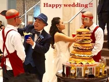 ハンバーガータワー アメリカン結婚式 コロナパーティー 岩手 アメリカ雑貨屋 サンブリッヂ SUNBRIDGE