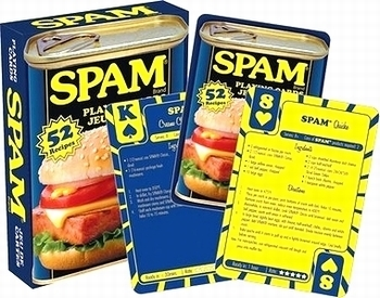 スパムトランプ SPAMレシピ スパムカード アメリカントランプゲーム アメリカ雑貨屋 SUNBRIDGE