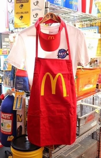 マクドナルドサンバイザー マクドナルドエプロン アメリカ雑貨屋サンブリッヂ SUNBRIDGE 岩手雑貨屋