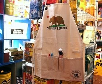 カリフォルニアワークエプロン エプロン アメリカ雑貨屋サンブリッヂ SUNBRIDGE 岩手雑貨屋