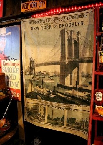 ニューヨークブルックリンタペストリー アメリカンタペストリー アンティークタペストリー 麻ジュートタペストリー アメリカ雑貨屋 SUNBRIDGE 岩手アメリカン雑貨 矢巾雑貨屋