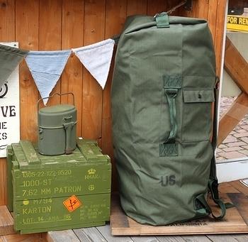 アメリカ軍コーデュラダッフルバッグ USダッフルバッグ ミリタリーバッグ キャンプバッグパック バイカーバック アメリカ雑貨屋 SUNBRIDGE 岩手 ミリタリー雑貨