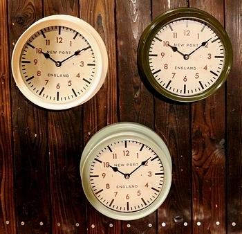 ステーションウォールクロック 壁掛け時計 アメリカ雑貨屋 サンブリッヂ SUNBRIDGE 岩手雑貨屋