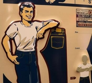 デニム看板 デニム&ダンガリー看板 ジーンズ看板 アメリカ雑貨屋 サンブリッヂ SUNBRIDGE 岩手雑貨屋 アメリカ雑貨通販