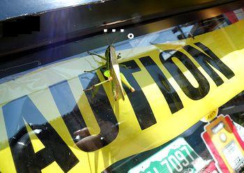 アメリカ雑貨屋のショーウィンドウにバッタが! 岩手 アメリカ雑貨 SUN BRIDGE ブログ日記
