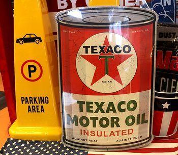 テキサコオイル缶看板 TEXCO看板 アメリカ雑貨屋 サンブリッヂ SUNBRIDGE 岩手雑貨屋 アメリカ雑貨通販