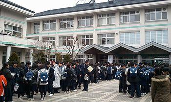 東北関東大震災 卒業式