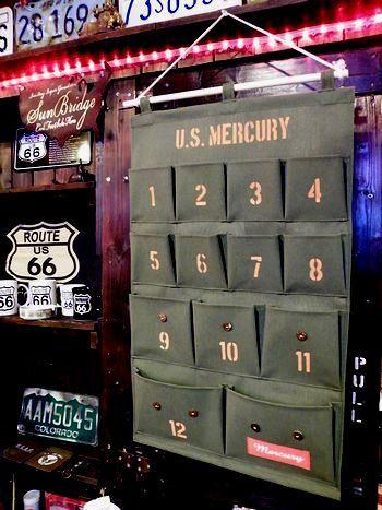 岩手 アメリカ雑貨屋 サンブリッヂ 雑貨 通販 マーキュリー壁掛けポケット