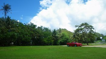 グアム旅行 レンタカーオープンカーカマロ アメリカ雑貨 サンブリッヂ