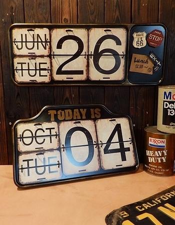 日めくりカレンダー ブリキカレンダー アメリカ雑貨屋 岩手 矢巾 サンブリッヂ