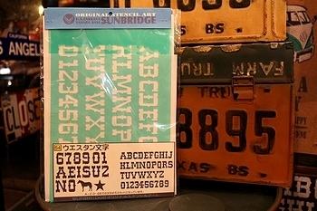 ステンシルシートウエスタン文字 アメリカ雑貨屋サンブリッヂ