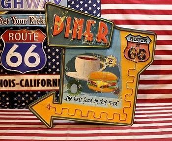 ルート66ガソリン看板 ROUTE66 アメリカ雑貨屋 サンブリッヂ ブリキ看板通販