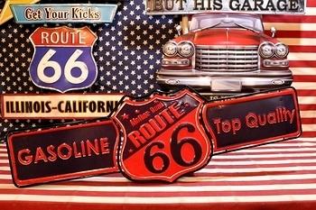 ルート66ガソリン看板 ROUTE66 アメリカ雑貨屋 サンブリッヂ 雑貨通販