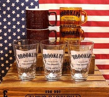 ブルックリングラス スタッキングマグ BROOKLYN アメリカ雑貨屋 SUNBRIDGE