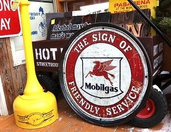 ドラム缶のフタ看板 ヴィンテージメタルサイン アメリカ雑貨屋 SUNBRIDGE