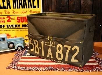 ガレージストレージボックスカーキ アメリカ雑貨屋 サンブリッヂ 雑貨通販
