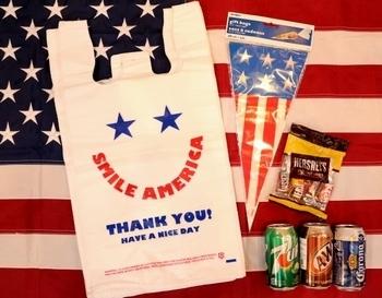 スマイルビニール袋 アメリカ雑貨屋 サンブリッヂ