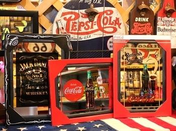 コーラパブミラー ジャックダニエルパブミラー アメリカ雑貨屋 サンブリッヂ