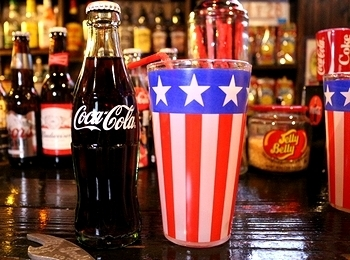 星条旗ロンググラス ガラスタンブラー アメリカ雑貨屋 サンブリッヂ 雑貨通販