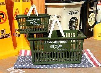 ミリタリーカゴ バスケット アメリカ雑貨屋 サンブリッヂ 岩手雑貨屋