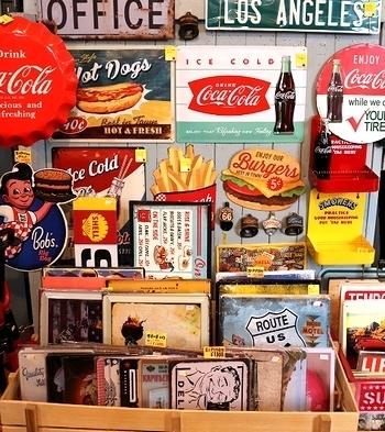 コカコーラ看板 雑貨屋サンブリッヂ