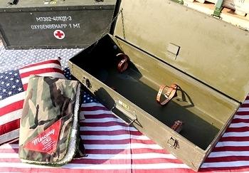 スウェーデン軍ウォーターボンベボックス アメリカ雑貨屋 サンブリッヂ ミリタリーボックス