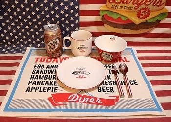 アメリカンダイナーランチョンマット アメリカ雑貨屋 サンブリッヂ