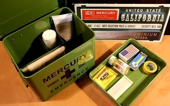 マーキュリー救急箱 おしゃれ救急箱 エマージェンシーボックス アメリカ雑貨屋 サンブリッヂ 岩手雑貨屋
