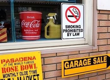 プラスチック看板 禁煙看板 アメリカプラ看板 アメリカ雑貨屋 サンブリッヂ US看板通販