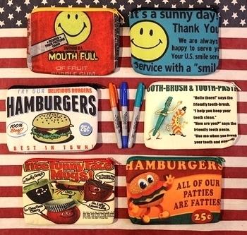 スマイルポーチハンバーガーポーチ<div><br></div>アメリカ雑貨屋 サンブリッヂ アメリカ雑貨通販